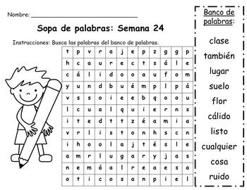 Senderos: Primer Grado: Unidad 5: Práctica del vocabulario