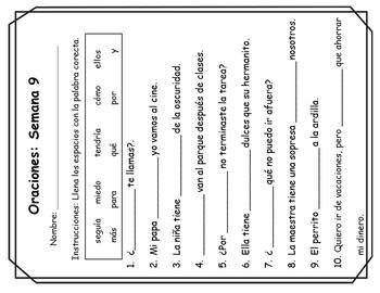 Senderos: Segundo Grado: Unidad 2, Lección 4: Práctica del vocabulario