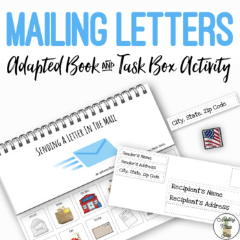 Sending A Letter In The Mail BUNDLE Adapted Book Life Skills Work Task