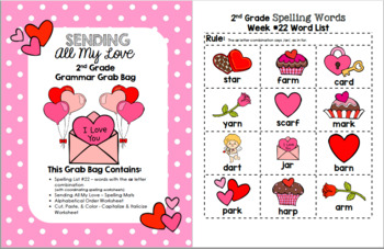 Sending All My Love 2nd Grade Grammar Grab Bag #22