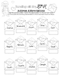 Sending all My Love - Address Abbreviation Matching Worksheet