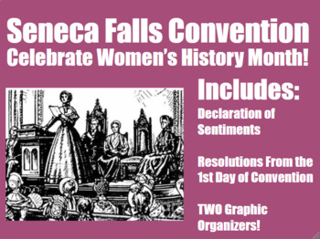 Close Reading Seneca Falls Convention Middle and High School