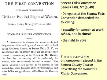Susan B. Anthony and the Seneca Falls Convention PowerPoint Presentation