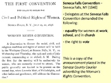 Susan B. Anthony and the Seneca Falls Convention PowerPoin