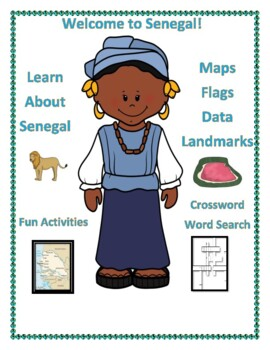 Senegal Geography, Flag, Data, Maps Assessment - Map Skills and Data Analysis