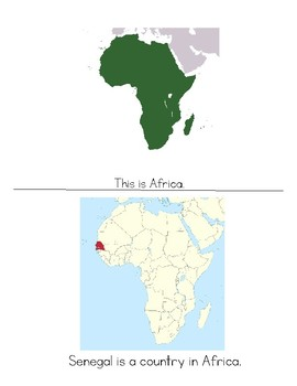 Senegal Is A Country In Africa - Montessori Geography