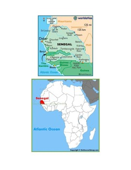 Senegal Map Scavenger Hunt