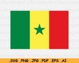 Senegal National Flag, Senegalese Country Banner Cricut, SVG EPS AI PNG JPG PDF