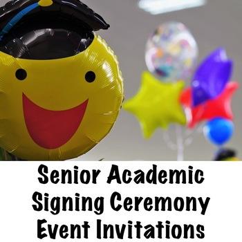 Senior Academic Signing Ceremony Event Invitation