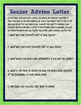 Senior Advice Letter