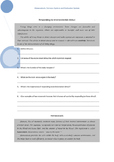 Senior Biology Homeostasis Revision Worksheet