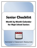 Senior Checklist: Month by Month Calendar for High School Seniors