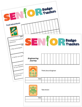 Senior Girl Scouts Inspired Troop Badge Requirement Tracker [.doc]