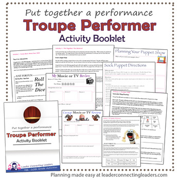 Senior Scout Troupe Performer Activity Booklet