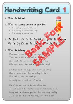Senior Handwriting Card Pack 2 (New Zealand Font)