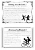 Senior Handwriting Worksheet Set: Lemony Snicket Quotes in D'Nealian Cursive