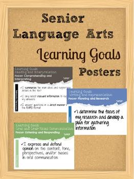 Senior Language Arts Learning Goals Posters