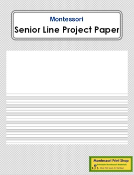 Senior Lined Project Paper