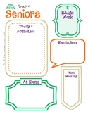 Senior Meeting Activity Planner Girl Scouts Editable Print