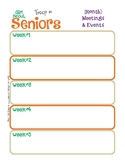 Senior Monthly Activity Calendar Girl Scouts Editable Prin