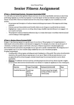 Senior Personal Fitness Assignment