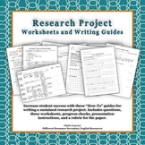 Research Projects- Questions and Guided Organization Worksheets