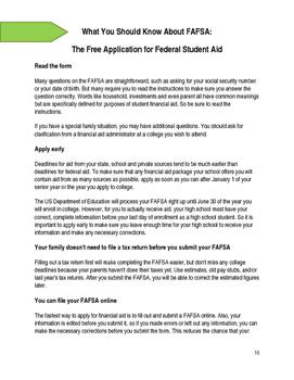 Senior Year Prep Packet: College Version