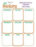Senior Yearly Calendar Girl Scouts Editable Printable PDF Template