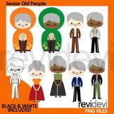Senior old people clipart / Grandma, grandpa, grandparents