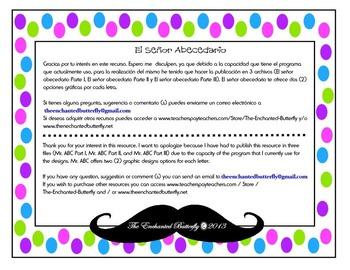 Senor Abecedario- Part 3