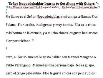 Señor Nopuedehablar   __Adjective Agreement