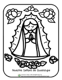 Señora de Guadalupe Coloring Page Spanish for Children