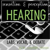 Sensation & Perception: Hearing Lab, Vocab, & Debate