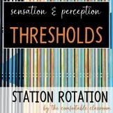 Sensation & Perception: Thresholds Station Rotation
