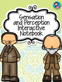 Sensation and Perception Interactive Notebook Activities and Posters Bundle Set