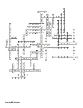 Sensation and Perception Part II Vocabulary Crossword For Psychology