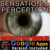 Sensation and Perception Unit: PowerPoint, Worksheets, Pla