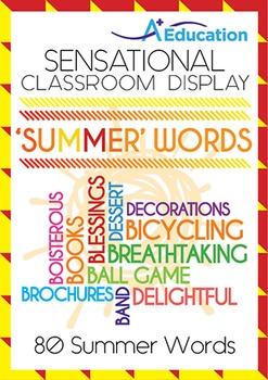 Sensational Classroom Display - 'SUMMER' WORDS