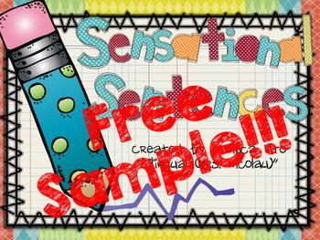 Sensational Sentences - Complete Sentences FREE SAMPLE in SPAN & ENGL