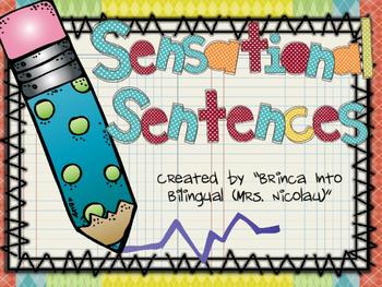 Sensational Sentences - Complete Sentences Unit English