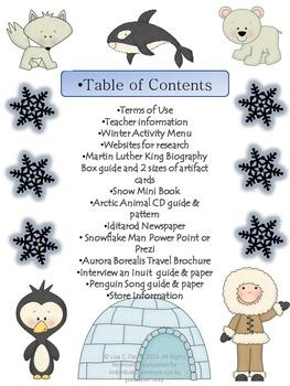 Sensational Set of 3 Winter Enrichment Menus!