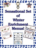 Sensational Set of 3 Winter Menus for Critical & Creative Thinking!