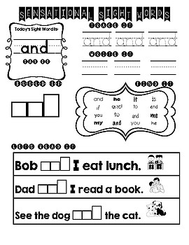 Sight Word Practice 1-50