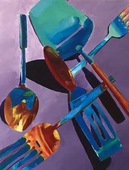 Sensational Silverware - Acrylic Painting Project