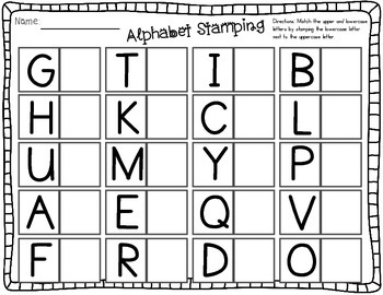 Sensational Stamps: Alphabet, rhyming, beginning, middle, & ending sounds