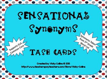 Sensational Synonyms Task Cards