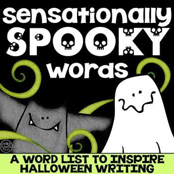 sensationally spooky words halloween word list