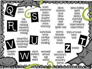Sensationally Spooky Words - Halloween Word List