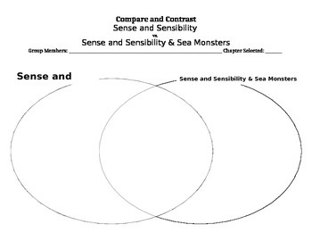 Sense & Sensibility & Sea Monsters Comparison Chart