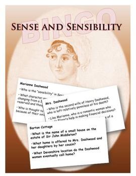 Sense and Sensibility BINGO